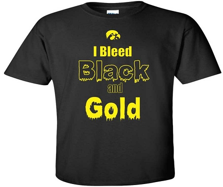 I Bleed Black & Gold - Black T-shirt
