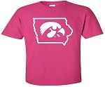 TIGERHAWK IN STATE OF IOWA - HOT PINK  T-SHIRT