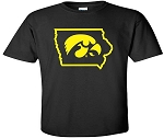 TIGERHAWK IN STATE OF IOWA - BLACK  T-SHIRT