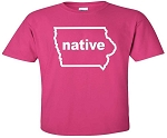 IOWA NATIVE - HOT PINK T-SHIRT