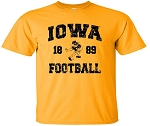 IOWA FOOTBALL 1889 - GOLD T-SHIRT