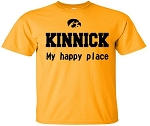 KINNICK: MY HAPPY PLACE - GOLD T-SHIRT
