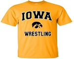 IOWA WRESTLING GOLD T-SHIRT