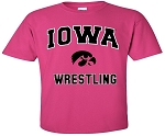 IOWA WRESTLING HOT PINK T-SHIRT