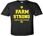 FARM STRONG - AMERICA NEEDS FARMERS - BLACK T-SHIRT