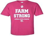 FARM STRONG - AMERICA NEEDS FARMERS - HOT PINK T-SHIRT
