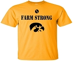 FARM STRONG WITH BIG TIGERHAWK - GOLD T-SHIRT