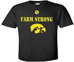 FARM STRONG WITH BIG TIGERHAWK - BLACK T-SHIRT