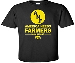 AMERICA NEEDS FARMERS WITH BIG ANF - BLACK T-SHIRT - YOUTH