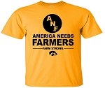AMERICA NEEDS FARMERS WITH BIG ANF - GOLD T-SHIRT