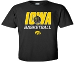 IOWA BASKETBALL - BLACK  T-SHIRT