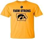 FARM STRONG HAWK IN STATE - GOLD T-SHIRT