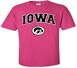 IOWA HOT PINK T-SHIRT - YOUTH
