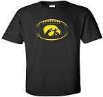 TIGERHAWK IN FOOTBALL - BLACK T-SHIRT