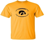 TIGERHAWK IN FOOTBALL - GOLD T-SHIRT