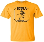 Iowa Herky Football Gold Shirt