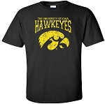 U of I Hawkeyes Tigerhawk - Black