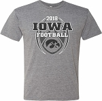 2018 Iowa Football Schedule - Medium Grey