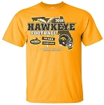2019 OUTBACK BOWL IOWA HAWKEYES - GOLD T-SHIRT