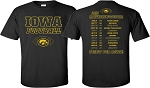 2019 Iowa Football Schedule - Black