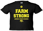 FARM STRONG  - INFANT-TODDLER BLACK T-SHIRT