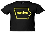 IOWA NATIVE  - BLACK T-SHIRT - INFANT-TODDLER