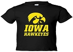 IOWA HAWKEYES  - BLACK T-SHIRT - INFANT-TODDLER