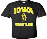 IOWA WRESTLING BLACK T-SHIRT
