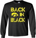 BACK IN  BLACK LONG SLEEVE T-SHIRT