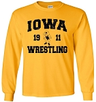 IOWA WRESTLING 1911 - GOLD - LONG SLEEVE
