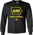 ANF IN STATE OF IOWA - BLACK  LONG SLEEVE SHIRT