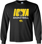 IOWA BASKETBALL - LONG SLEEVE - BLACK