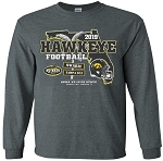 2019 Outback Bowl Iowa Hawkeyes - Dark Gray Long Sleeve