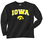 IOWA BLACK LONG SLEEVE T-SHIRT - INFANT/TODDLER