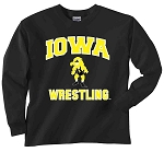 IOWA WRESTLING BLACK LONG SLEEVE T-SHIRT