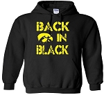 BACK IN BLACK - BLACK HOODED SWEATSHIRT