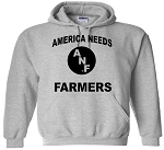 AMERICA NEEDS FARMERS HOOD - LIGHT GREY