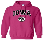 IOWA HOT PINK HOODED SWEATSHIRT