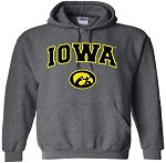 IOWA - DARK GREY HOODED SWEATSHIRT