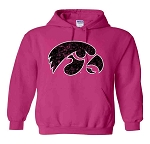 BIG TIGERHAWK HOT PINK HOODED SWEATSHIRT