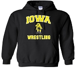 Iowa Wrestling - Black Hooded Sweatshirt