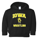 IOWA WRESTLING - BLACK HOODED SWEATSHIRT - TODDLER