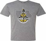 Book it to Iowa City RAGBRAI - Graphite Grey