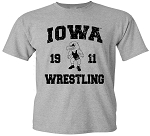 IOWA WRESTLING 1911 - LIGHT GREY T-SHIRT