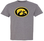 OVAL TIGERHAWK DISTRESSED - MEDIUM GREY T-SHIRT
