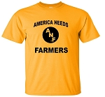 AMERICA NEEDS FARMERS FRONT - FARM STRONG BACK - GOLD
