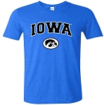 IOWA T-SHIRT - HEATHER ROYAL - SOFT STYLE