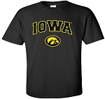 IOWA BLACK  T-SHIRT