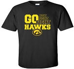 FIGHT FIGHT FIGHT GO HAWKS - BLACK  T-SHIRT