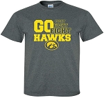 FIGHT FIGHT FIGHT GO HAWKS - DARK GREY  T-SHIRT